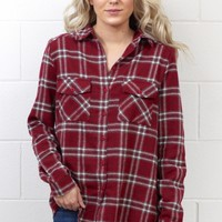 Our Favorite Plaid Flannel {Burgundy} EXTENDED SIZES