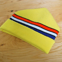 Vintage Yellow Logger Wigwam Hat