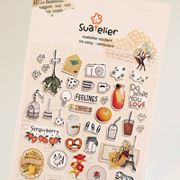 Memory of The Past Decorative Sticker Set Diary Album Label Sticker DIY Scrapbooking Stationery Stickers Escolar