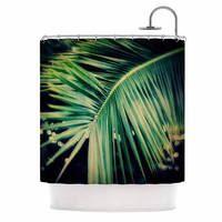 """Angie Turner """"Palm Frond"""" Green Nature Shower Curtain"""