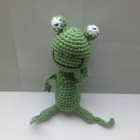 Handmade crochet Frog Stuffed animal