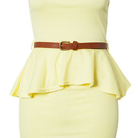 Mini Dip Hem Bandeau Dress