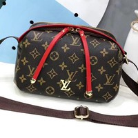 LV Louis Vuitton Fashion new casual print small square bag shoulder Messenger bag