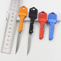 Factory Price, Protable Key Fold Knife Key Pocket Knife Key Chain Knife Peeler Mini Camping Key Ring Knife Tool D543