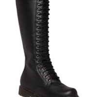 """Demonia By Pleaser Black 17"""" Lace-Up Boots"""