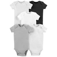 Baby Carter's 5-pack Solid Bodysuits | null
