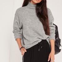 Search results for: 'high neck dip hem brushed jumper grey'