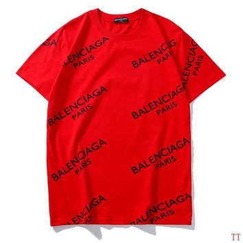 Trendsetter Balenciaga Women Man Fashion Print Sport Shirt Top Tee