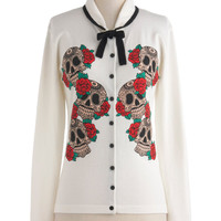 Cardigan to Skull Your Own | Mod Retro Vintage Sweaters | ModCloth.com