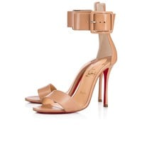 Cl Christian Louboutin Blade Runana Nude Leather 18s Sandals 1181077pk1a - Best Online Sale