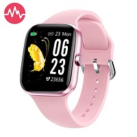 """Smart Watch for Men Women,Fitness Tracker with 1.54"""" Full Touch Color Screen ,IP67 Waterproof Pedometer Smartwatch with Pedometer Heart Rate Monitor Sleep Tracker for Android and iOS Phones Pink"""