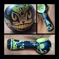 Alice in Wonderland Glass Pipe ...Made to Order  Cheshire Cat