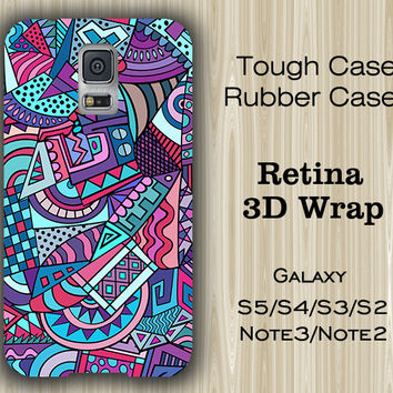 Teal Blue Geometric Samsung Galaxy S5/S4/S3/Note 3/Note 2 Case