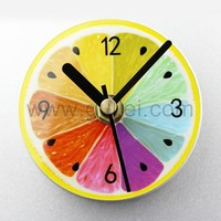 Colorful Lemon Magnetic Clock for Fridge or Wall