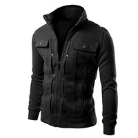 Nevera Hot Sale! Fashion Mens Slim Designed Lapel Cardigan Coat Jacket Clearance