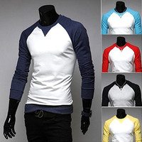 Two Toned Long Sleeve Baseball Shirt