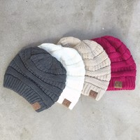 Toasty Haven Knit CC Beanie