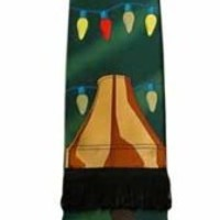 A Christmas Story Leg Lamp Neck Tie Green With String Lights