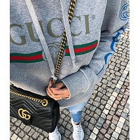GUCCI Women Fashion Hooded Top Pullover Sweatshirt Hood
