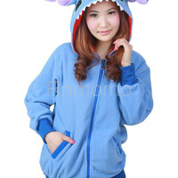 Stitch hoodie  KIGURUMI Cosplay  Charactor animal Hooded  Pajamas Pyjamas Xmas gift Adult  Costume outfit  hoodies