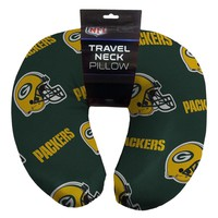 Green Bay Packers NFL Beadded Spandex Neck Pillow (12in x 13in x 5in)