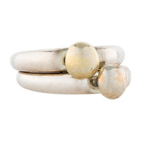 Elizabeth and James Stackable Rings
