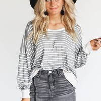 Too Soon Oversized Stripe Open Pack Pullover