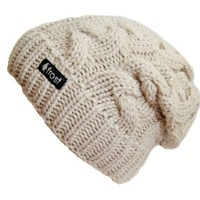 Frost Hats Winter Slouchy Beanie Cable Hat Frost Hats M 179