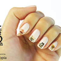 Puppy Water Transfer Nail Sticker by JsUtopia on Etsy