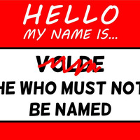 Hello My Name Is Voldemort He Who Must Not Be Named T Shirt