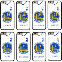 Golden State Warriors Hard Cell Phone Case Cover Fits For iphone 5 5s 6 6s 6s plus 7 7 plus
