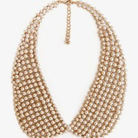 Pearlescent Peter Pan Collar Necklace