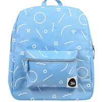 The Whitepepper Graphic Print Canvas Backpack