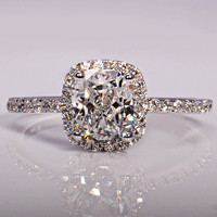 Victoria Wieck 3ct Topaz Simulated Diamond 925 Sterling Silver Engagement Wedding Band Ring Sz 5-11 Free shipping Gift