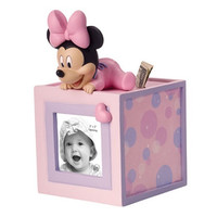 Baby Minnie Mouse Photo Cube Money Bank - Precious Moments