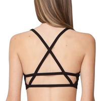 Back Cross Strappy Bralet Top
