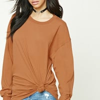 Oversized Cotton-Blend Tee