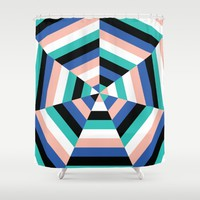 Heptagon Quilt 3 Shower Curtain by Fimbis