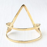 Bear Head Womens Arrow Cuff - Brass One