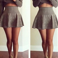 Long Sleeve Casual Party Crop Top and Skirt