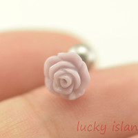 Tragus Earring Jewelry,purple rose tragus piercing jewelry, earring piercing Helix Cartilage jewelry,friendship ear piercing,bff gift