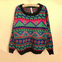Totem Print Sweater for Women