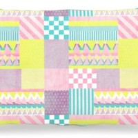 "Kess InHouse Louise Machado ""Luna"" Pastel Pattern Fleece Dog Bed, 30 by 40-Inch"