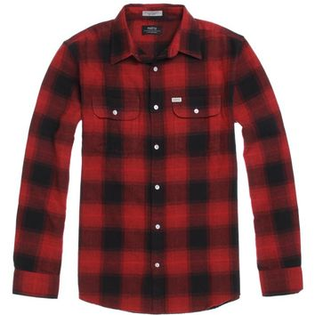 Matix Cheville Flannel Shirt - Mens Shirts - Red