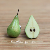 Pear Earrings - Healthy Collection - Fruit & Veggies Food Jewelry