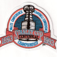 NHL 1993 Stanley Cup Final Championship Centennial Jersey Patch (English Version) Los Angeles Kings vs. Montreal Canadiens