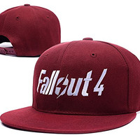 BARONL Fallout 4 Logo Adjustable Snapback Embroidery Hats Caps - Red