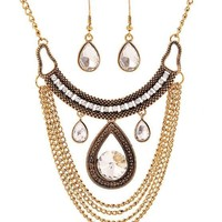 Jewelry New Arrival Shiny Gift Stylish Vintage Water Droplets Chain Set Necklace [6586422023]