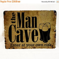 NEW YEARS SALE - The Man Cave distressed Sign -Father's day gift, man cave decoration, men's birthday gift, groomsman gift, bar decorations,