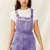Vintage Front-Zip Shortall Romper- Assorted One